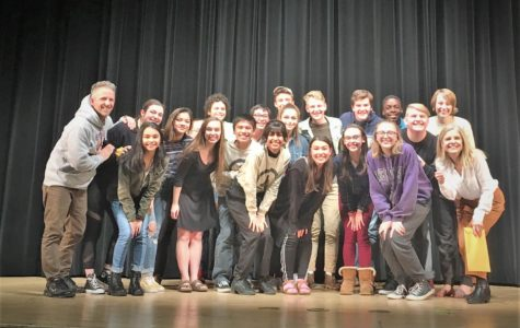 The Stage Streaks celebrate their first place win at the 5D South Sub Regional One Act Competition. The cast will now be moving on to compete in regionals next Saturday, Feb. 2 at Albemarle High School.
