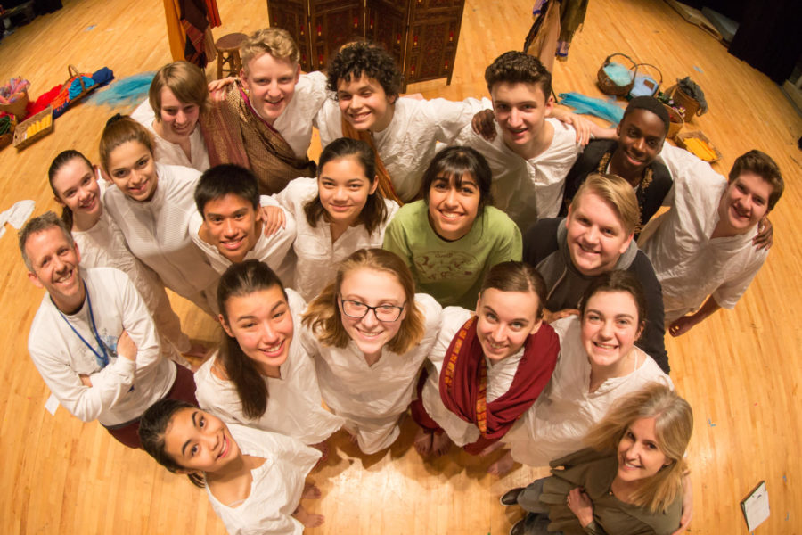 The One Act cast poses for a group picture following their first public performance of Siddhartha in October.
