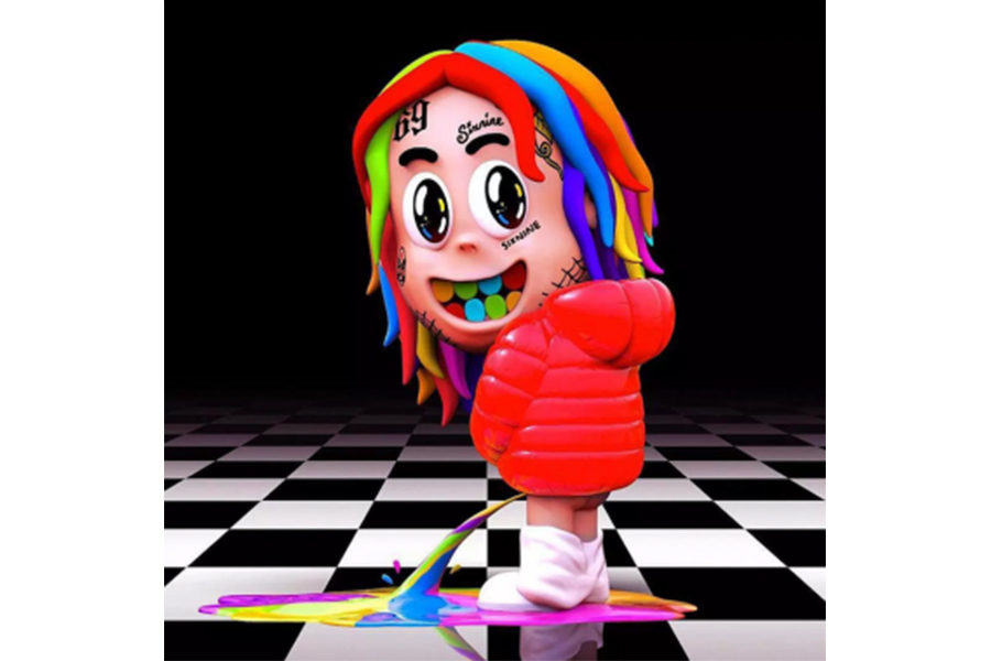 This is the album cover for 6ix9ine's
