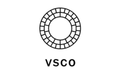 Top five social media platforms; VSCO at #1