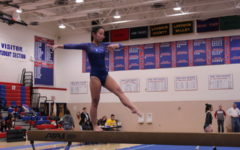 Gymnastics competes at Patriot High School