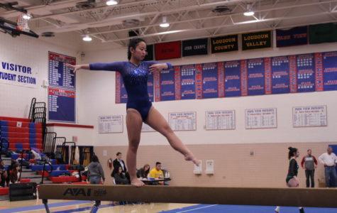 Gymnastics competes at Patriot High School