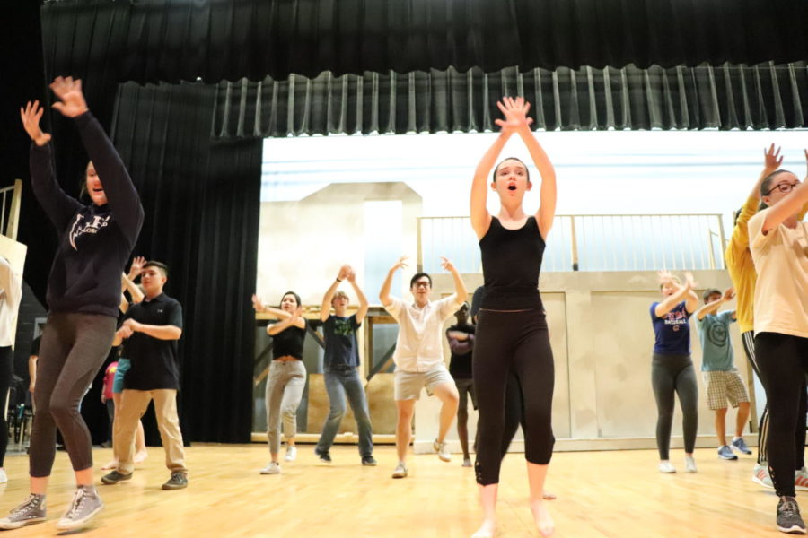 Freshman Maya Pope is front, though not center, for this musical number.
