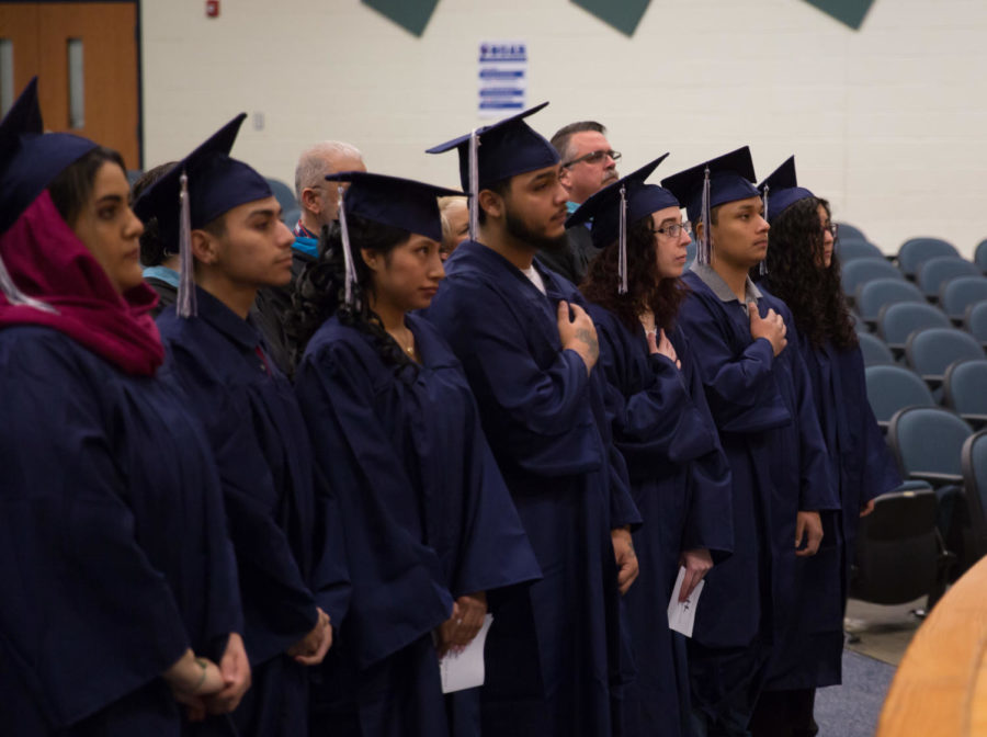 This year's winter graduation celebrated eight students. The annual ceremony took place at Skyline Middle School.