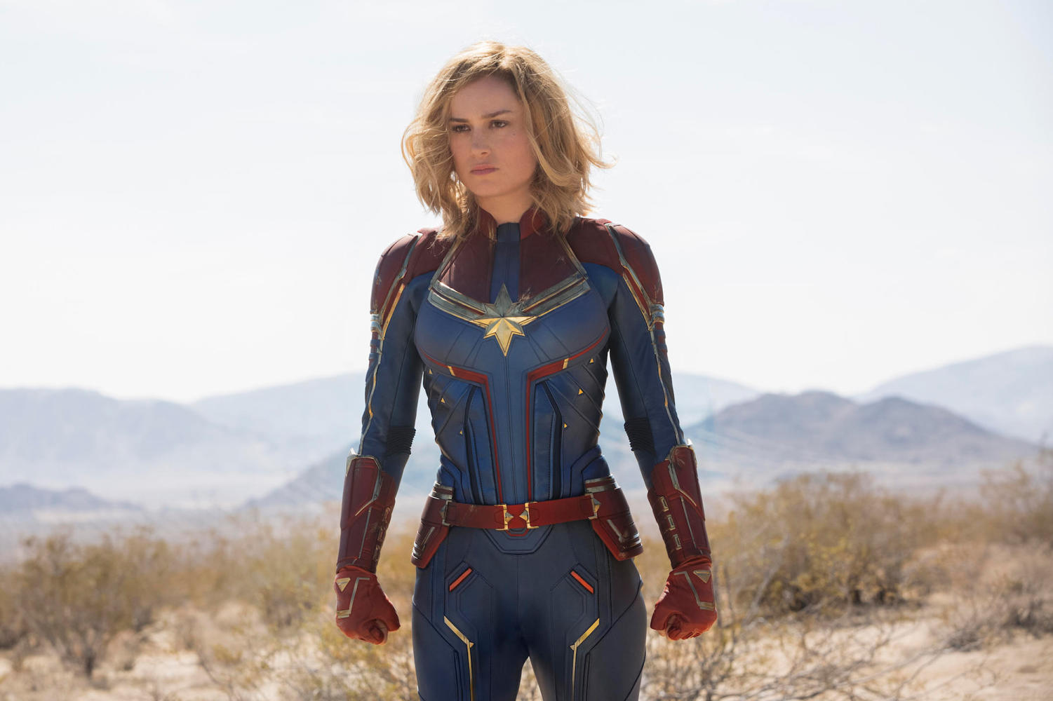 Brie Larson portrays the titular character Carol Danvers, known as Vers, in