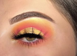 Junior Abby McCollum creates a vibrant eyeshadow look for her Instagram account, @makeupbyabby_paigeee. McCollum began her self-taught makeup Instagram account when she realized she wanted to showcase her looks and find more inspiration with other makeup Instagram account users.