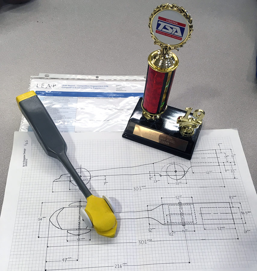 Sophomore+Henry+Hermes%27s+dragster+design+won+first+place+at+the+regional+TSA+competition.