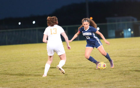 Girls varsity soccer falls at home to Waynesboro