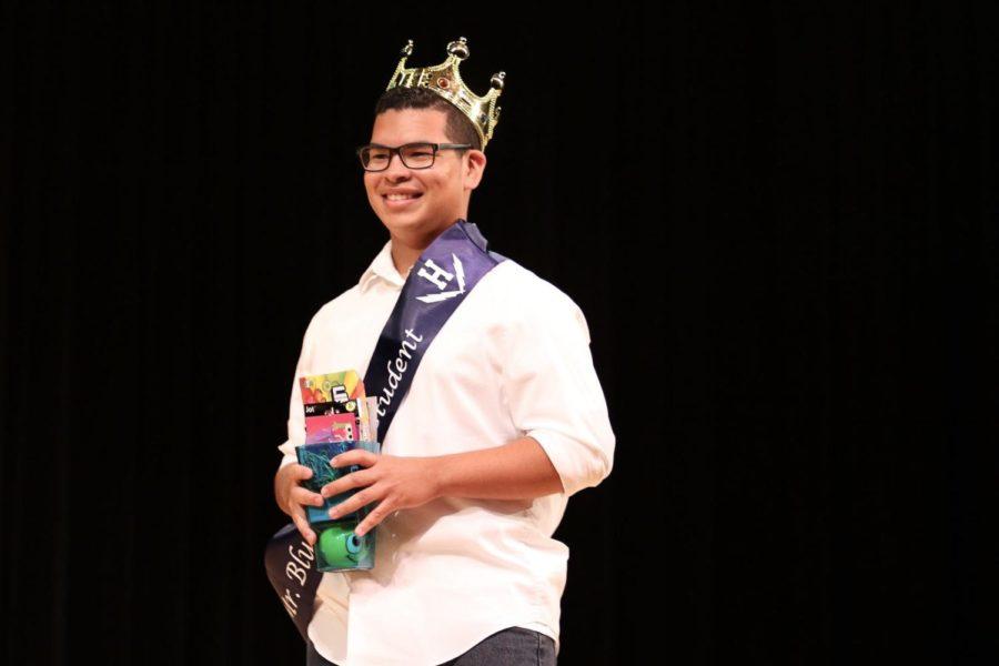 Junior Fernando Escobar-Medina smiles as he wins the