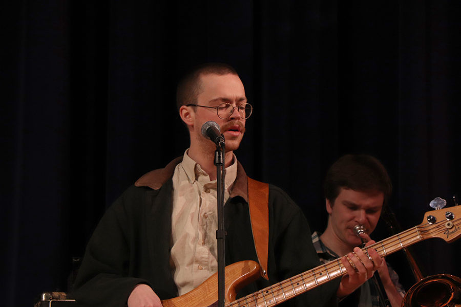 """Bassist Ryder Eaton plays guitar in the song """"Time Shortage"""" from The Saplings first album."""
