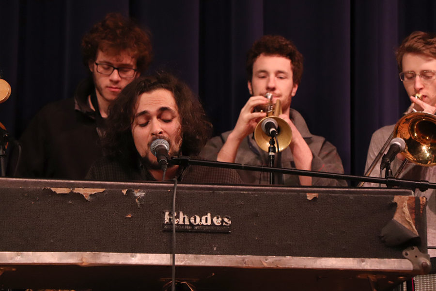 Harrisonburg High School alumnus Abe Nouri sings and plays piano as a part of the band The Saplings.