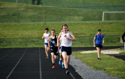 JV track team runs in Harrisonburg JV Invitational