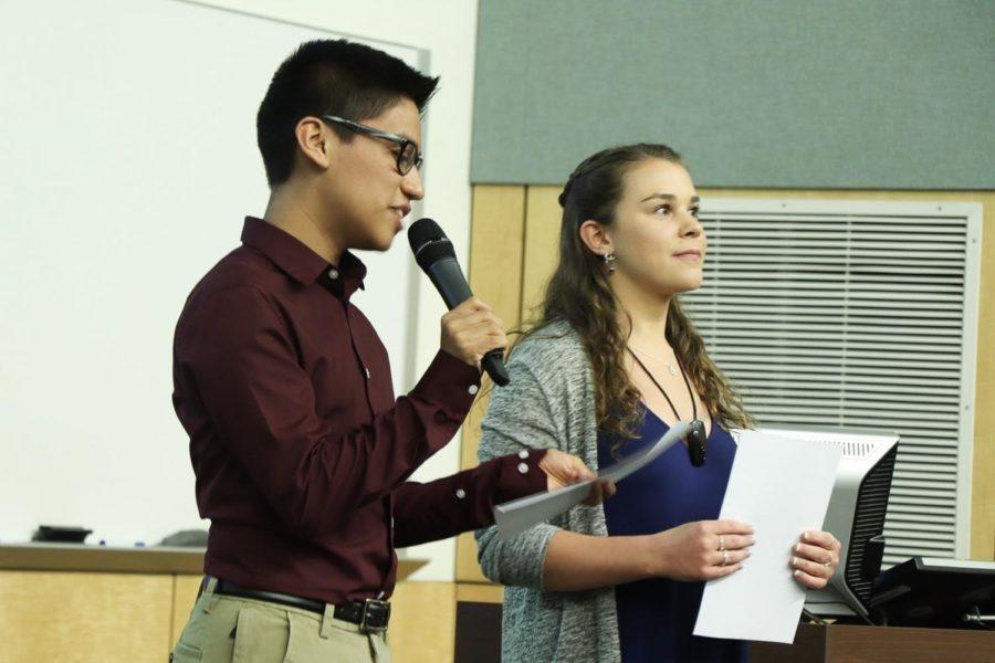 Sophomore Oziel Valdez and senior Christa Cole