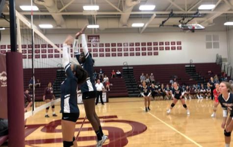 Varsity volleyball team falls to Stuarts Draft