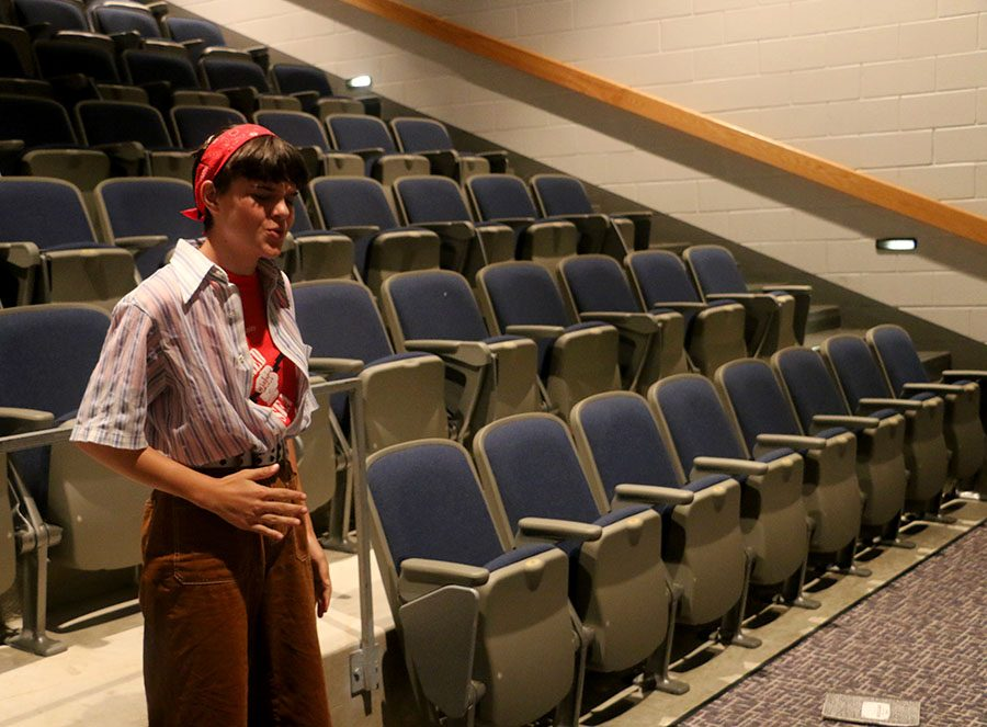 Freshman Azalea Twining preforms an emotional monologue and learns how to prepare for an audition.