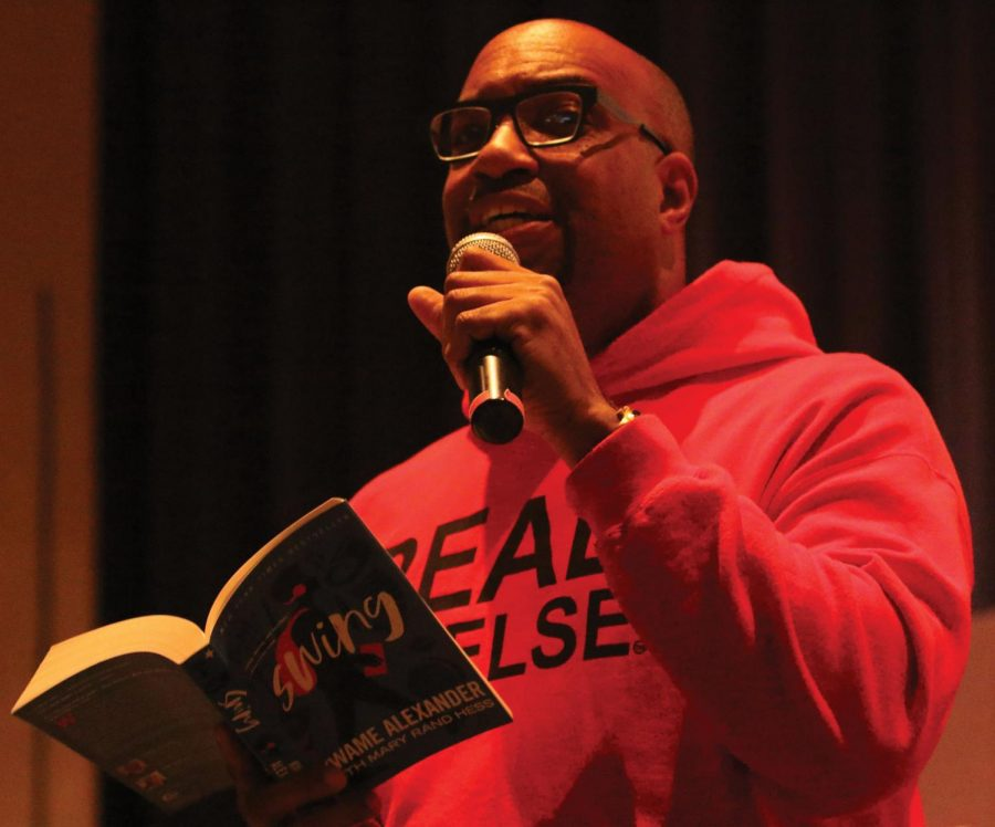 Kwame Alexander reads passages from his book