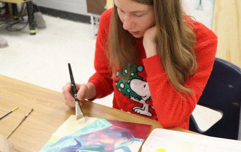White develops visual art skills in Art 3