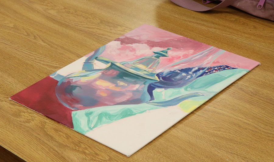 Julia White created a few versions of the same piece of art. This one is an illustrative version.