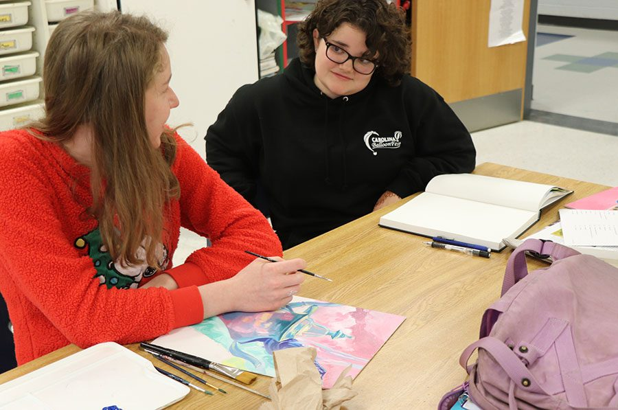 White and junior Maggie Botticelli discuss the upcoming showcase.