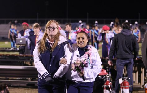 Homecoming court recognized during game against Broadway