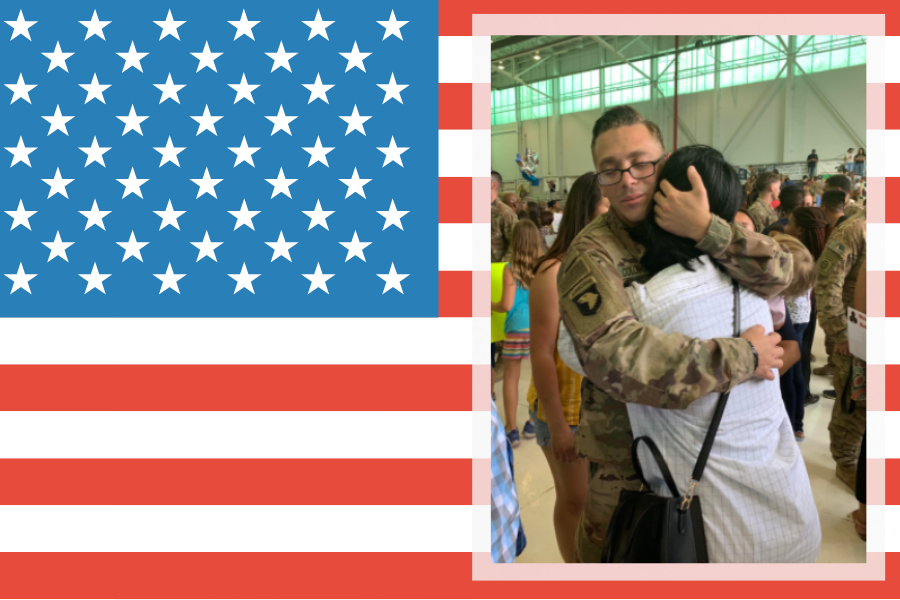 Junior+Genesis+Robles+hugs+her+brother+Erick+Colon+who+is+currently+serving+in+the+U.S.+Army.+
