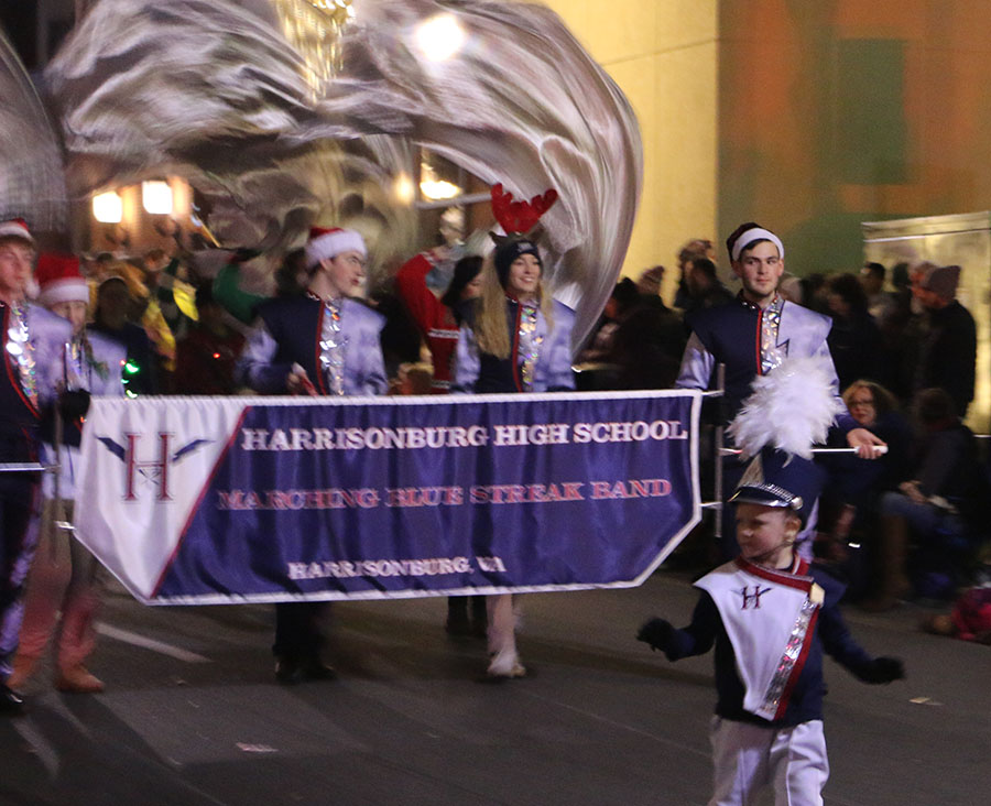 HHS band performs in annual holiday parade