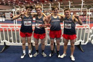4×800 boys indoor track team qualifies for nationals