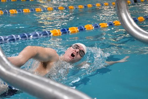 Swim team competes at District Championship