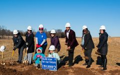Ground-breaking ceremony marks milestone in new high school build
