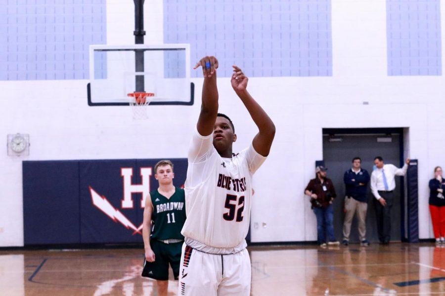 Freshman Donte Harvey shoots a free throw.