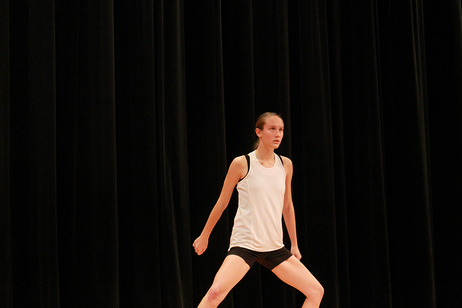 Junior Anya Newman dances in silence to step out of her comfort zone and become bare and vulnerable to the audience.