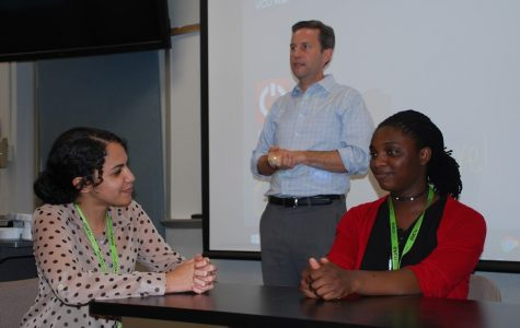 Ogundipe participates in a activity at her health sciences summer residential Governor's School.