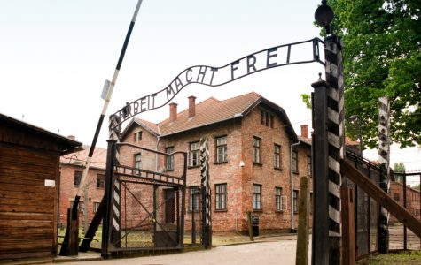 The entrance to Auschwitz. This concentration camp opened in 1940 and was liberated in 1945.