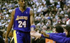 Feb. 3, 2007, Bryant subs out in the Lakers game against the Washington Wizards.
