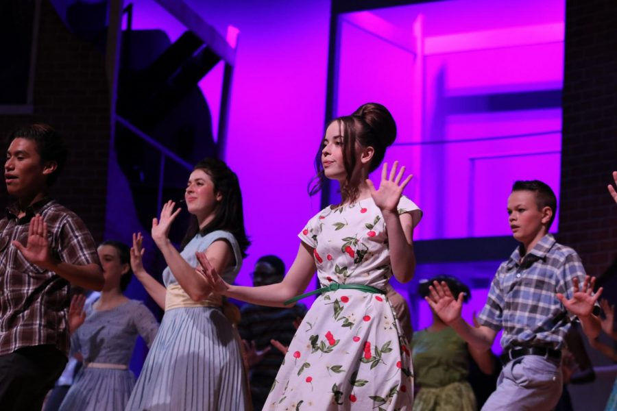 Kate Nichols plays the role of a Corny Collins Show member.
