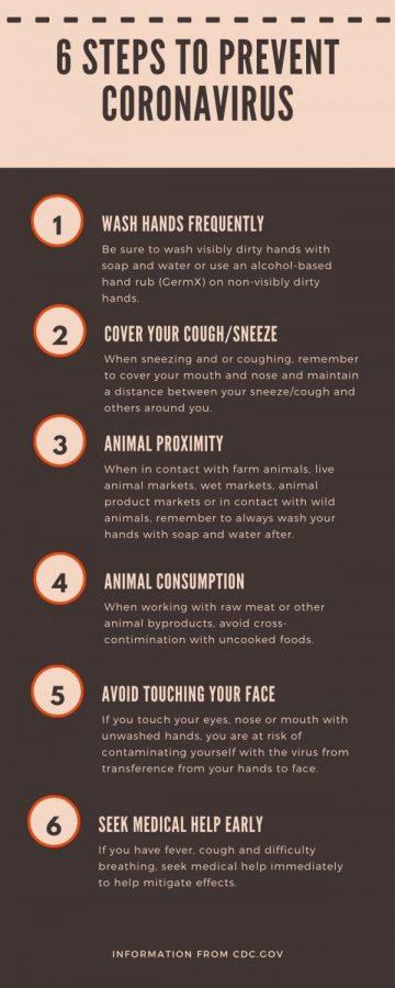 6 Steps to prevent coronavirus
