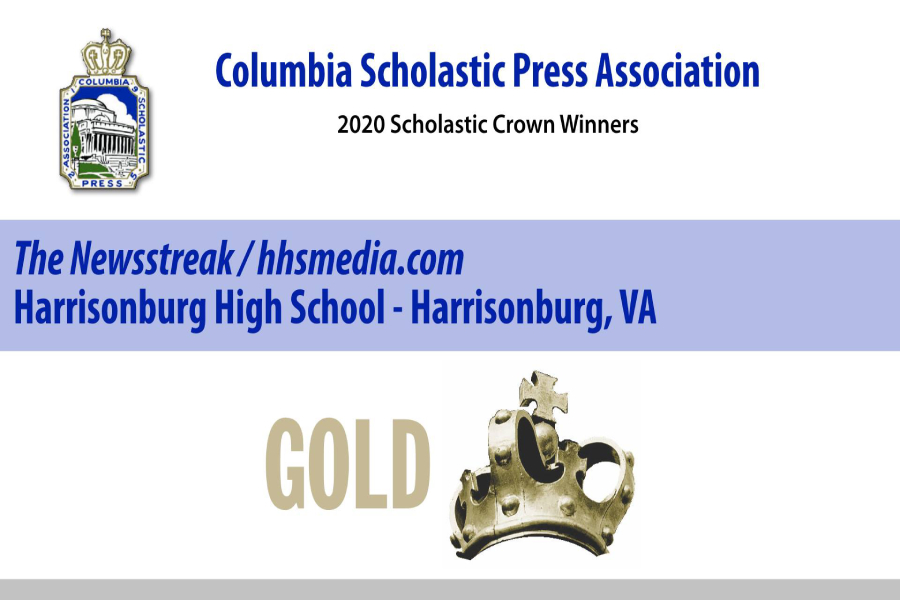 The+Columbia+Scholastic+Press+Association+awarded++the+Newsstreak+with+a+Gold+Crown+Award.+The+award+ceremony+was+live+streamed+on+March+20%2C+2020.+