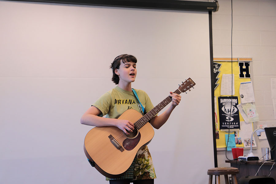 Twining performs her original song,