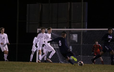 Senior Dlovan Hassan kicks the ball to make a goal.