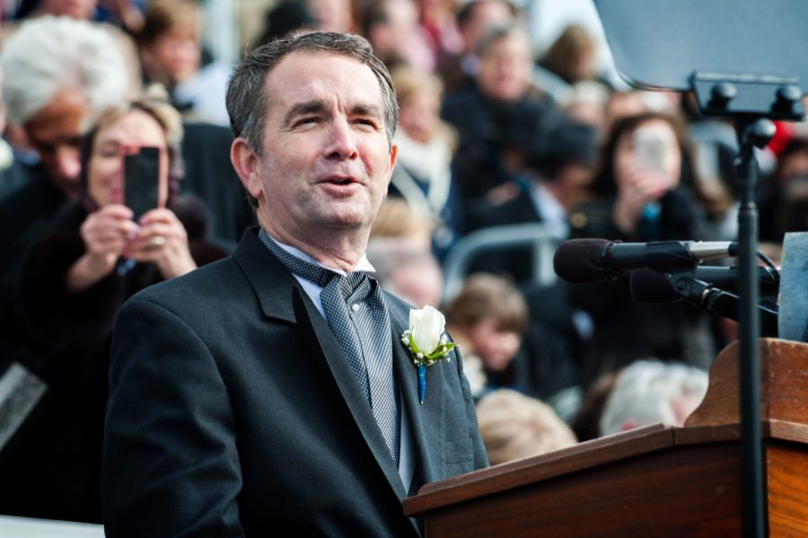 Va.+Governor+Ralph+Northam+gives+his+inaugaral+speech+on+January+20%2C+2018.+