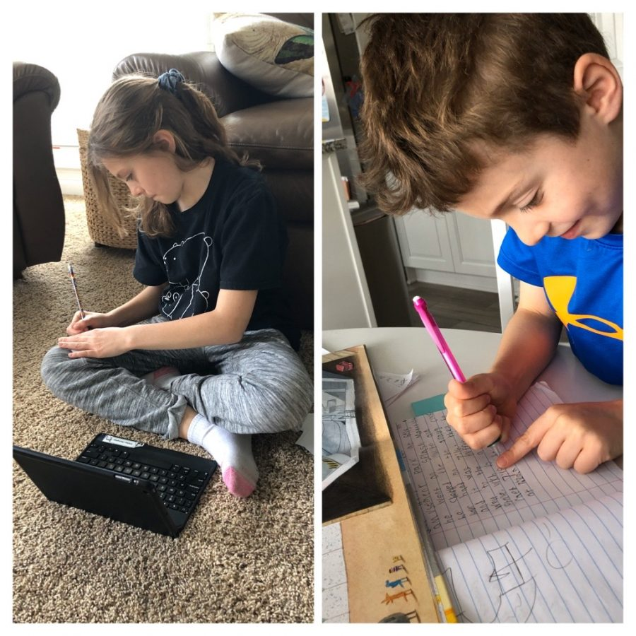 Horneber's siblings do daily school work assigned by their teachers with the help and guidance of Horneber.
