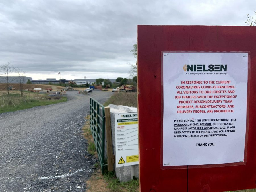 At the construction site of the new high school, no Nielsen builders are currently allowed on the site until the change order allows them to resume building.
