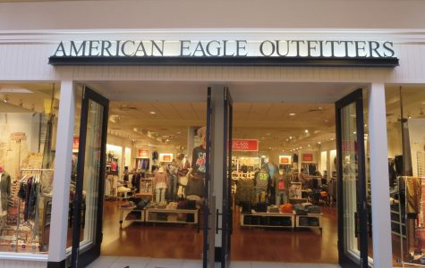 The entrance to an American Eagle store.