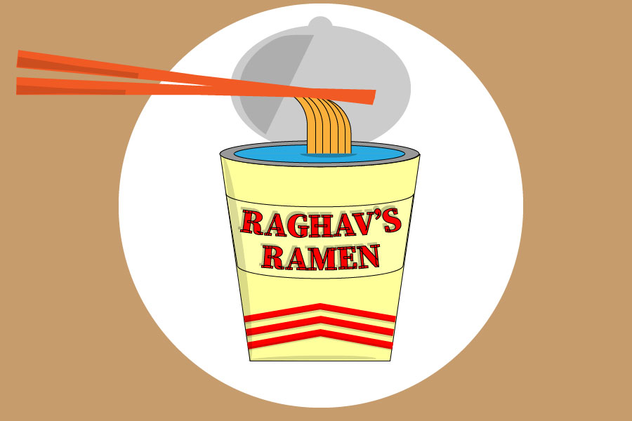 Senior Raghav Kharel started his own ramen business. He has been planning on this for years.