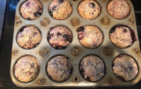 A picture of what the muffins look after they've been baked.