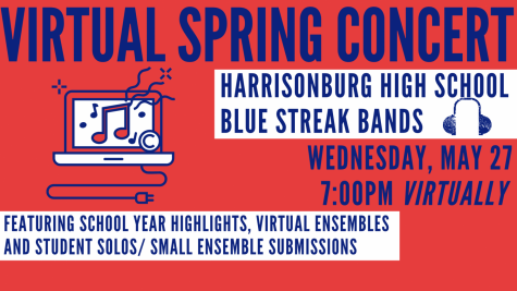 The flier for the Virtual Spring Band Concert.