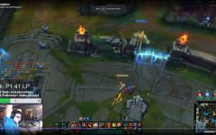 Senior Jacob Seefried streams League of Legends duo queue ranked with junior Alex Macauley.
