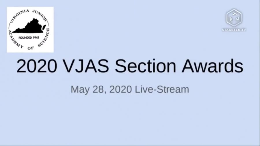 Screenshot from the VJAS Awards Ceremony. The ceremony was livestreamed through YouTube.