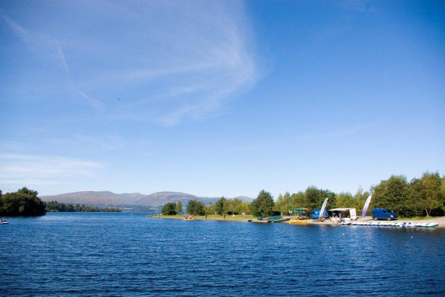 Landscape of a lake.