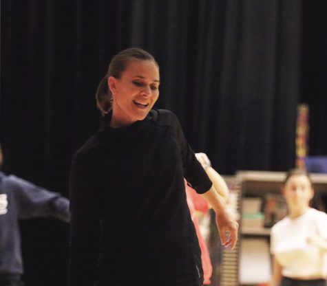 Choreographer Amber Corriston has worked with students virtually to teach dances to those participating in this years musical. (Photo taken prior to closure of schools and COVID-19 restrictions)